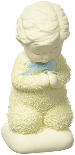 "Department 56 Snowbabies ""Saying Prayers, Boy"" Porcelain Figurine, 3.5″"