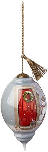 Ne'Qwa Standard Trillion Snowman Christmas Caller Ornament, Multi