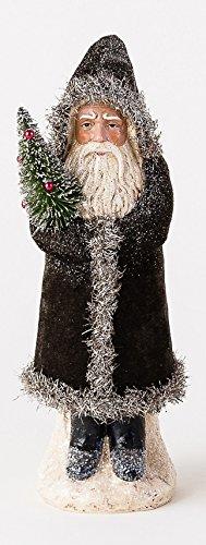 One Hundred 80 Degrees Velvet Belsnickle Figurine (Black)