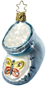 Inge-Glas Precious Steps Christmas Ornament, Blue