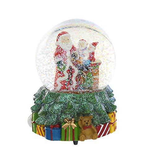 Ivy Home Glass Snow Globe Polystone Water Globe with Music