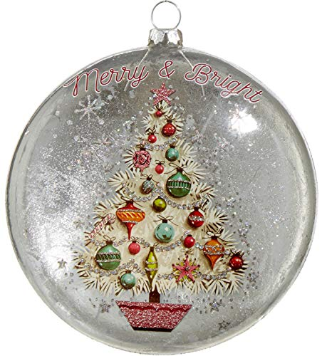 RAZ Imports Merry and Bright Glass Disc Ornament