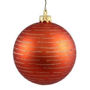 Vickerman 475″ Burn Org Ball with Glitter 2 per Bag