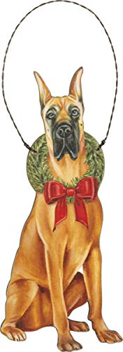 Primitive by Kathy Christmas Great Dane Hanging Ornament