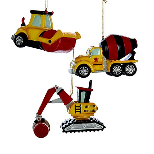 Kurt Adler CONSTRUCTION VEHICLE ORNAMENT 3A