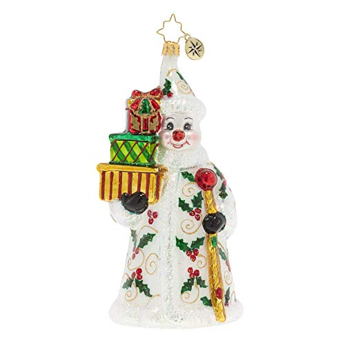 Christopher Radko Hand-Crafted European Glass Christmas Ornament, A Holly Jolly Delivery