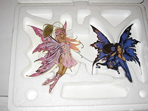 """Fairy Illusions """"Foxglove"""" and """"Nice"""" Ornaments by Amy Brown"""