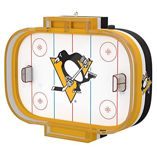 Hallmark Keepsake Christmas 2019 Year Dated NHL Pittsburgh Penguins Hockey Rink Ornament with Sound