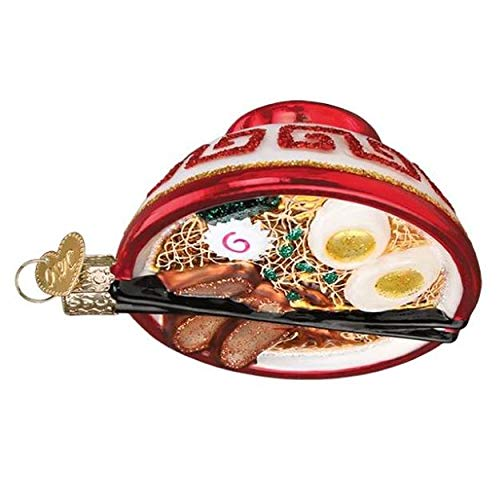 Old World Christmas Bowl of Ramen Tree Ornament