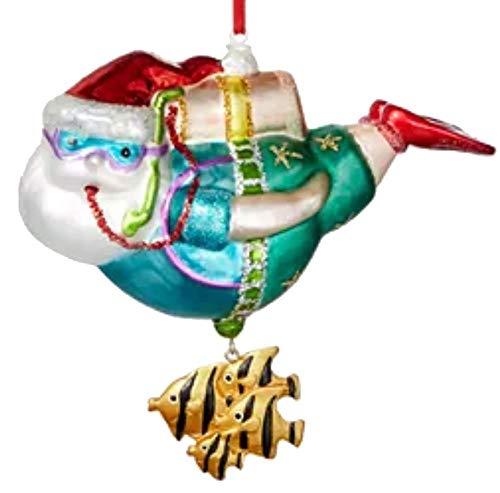 Holiday Lane Florida Scuba Diving Santa Ornament