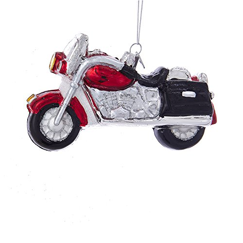 Kurt Adler Noble Gems Motorcycle Glass Ornament