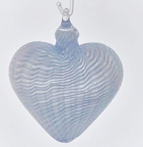Glass Eye Studio Periwinkle Classic Heart Ornament