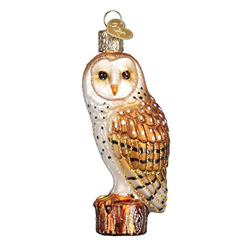 Old World Christmas Barn Owls Glass Blown Ornaments for Christmas Tree