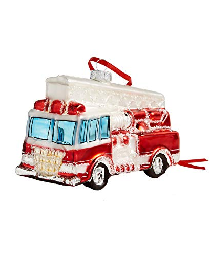 Holiday Lane Fire Truck Ornament