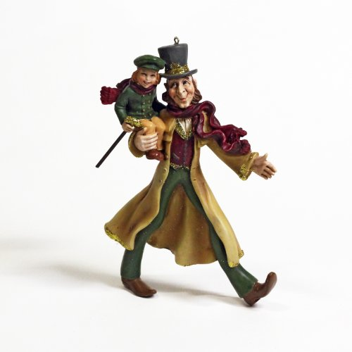 Kurt Adler Bob Cratchit and Tiny Tim Resin Ornament