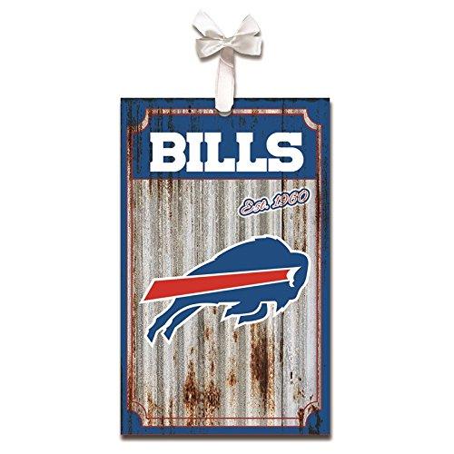Team Sports America Buffalo Bills, Metal Corrugate Ornament, Set of 2