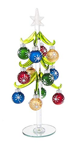 Ganz Glass Christmas Tree with Ornaments Large Home Decor