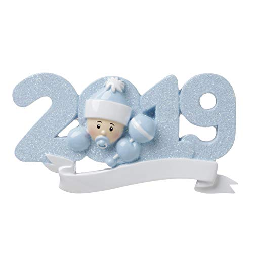 2019 BABY-BLUE Personalized Christmas Tree Ornament