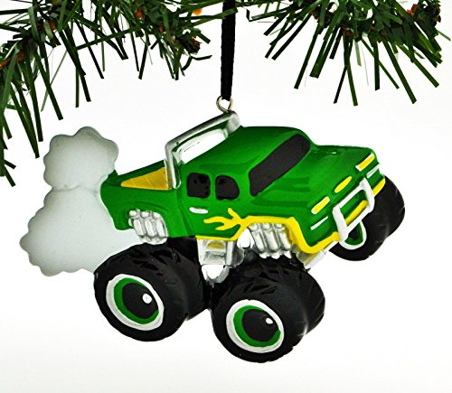 PolarX Monster Truck Green Personalized Christmas Tree Ornament