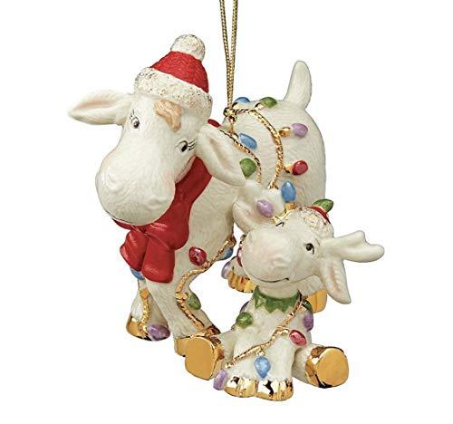 Lenox ~ Marcie & Baby Marcel Moose Ornament