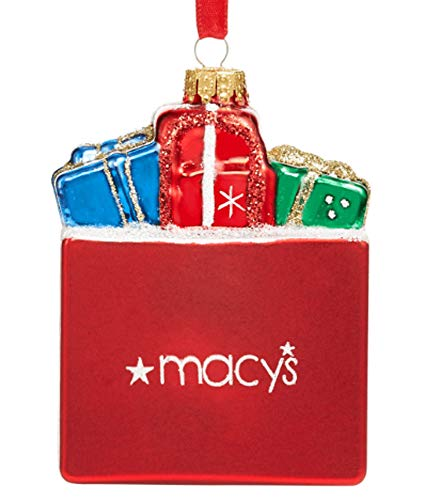 Holiday Lane Macys Shopping Bag with Gifts Ornament