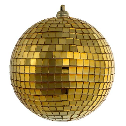 Vickerman 537879-4″ Gold Mirror Ball Christmas Tree Ornament (6 pack) (N183108)