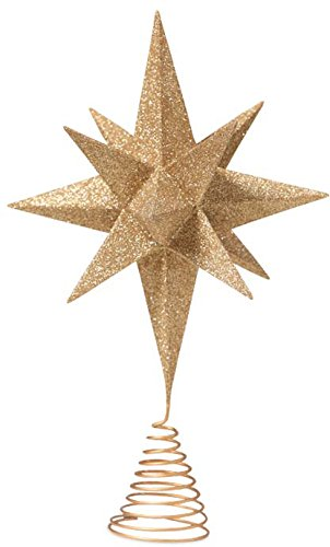 Bethany Lowe Designs Gold Moravian Star Tree Topper