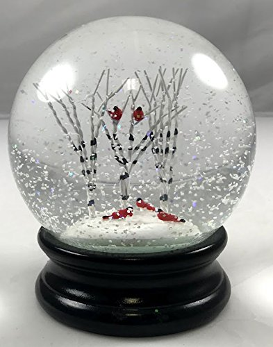 Raz Red Birds Cardinals Snow Globe