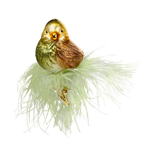 Inge-Glas Bird Clip-On Lotta 1-079-17 German Blown Glass Christmas Ornament