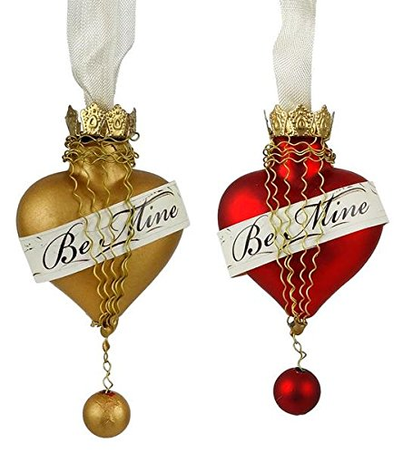 Sir Holiday Be Mine Heart Ornaments Set (2 Piece)