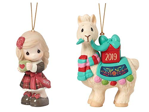 Precious Moments Girl & Llama Dated Ornament Bundle – Girl and Llama, Multi
