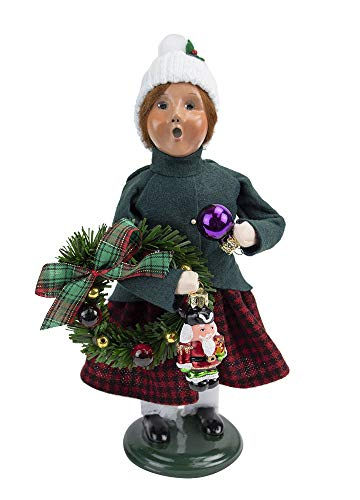 Byers' Choice Glass Ornament Girl 4473E from The Christmas Market Collection Collection (New 2020)