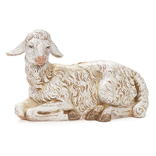 Fontanini, Nativity Figure Collection, Seated Sheep, 12″ Scale, Made in Italy, Constructed with Extremely High Detail, Made from an Unbreakable Polymer, Collection, Handmade in Italy, Polymer