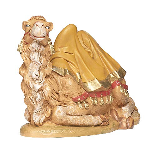 Fontanini, Nativity Figure, Sitting Camel, 12″ Scale, Collection, Handmade in Italy, Designed and Manufactured in Tuscany, Polymer, Hand Painted, Italian, Detailed