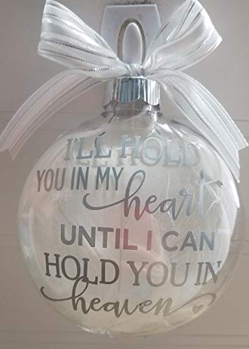 Amy's Bubbling Boutique Memorial Ornament, Christmas Ornament, Christmas Memorial, Heaven Ornament, Custom Made Christmas Ornament, in Loving Memory, (Silver Vinyl, Added Name & Date to Back)