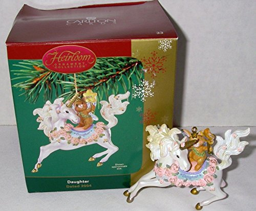 Carlton Heirloom Daughter 2004 Ornament Unicorn with Bunny