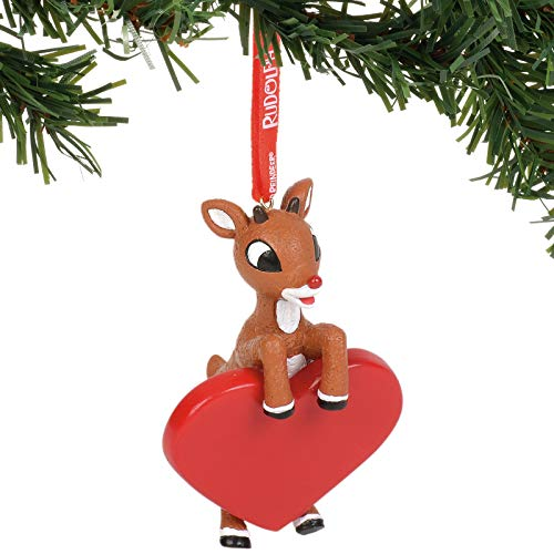 Department 56 Rudolph The Red-Nosed Reindeer Personalizable Hanging Ornament, 3.5 Inch, Multicolor
