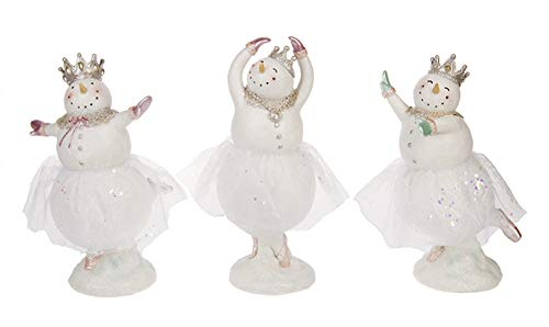 Ballerina Snowgirls 5.5 x 9.5 Inch Christmas Figurines Assorted Set of 3