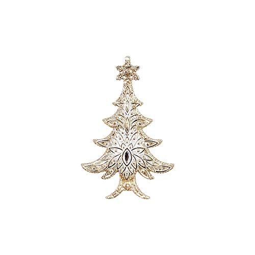 Raz Sparkle Goldtone Cream 6 inch Acrylic Decorative Christmas Ornament