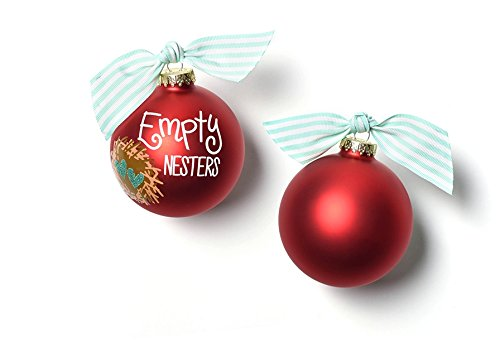 Coton Colors Empty Nesters Glass Ornament