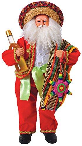 Santa's Workshop 9310 Mexican Santa Figurine, 18″