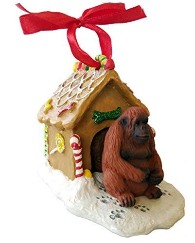 Conversation Concepts Orangutan Gingerbread House Christmas Ornament
