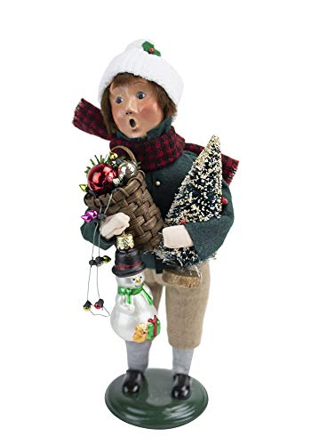 Byers' Choice Glass Ornament Boy 4474E from The Christmas Market Collection Collection (New 2020)
