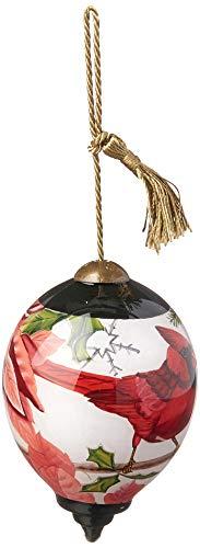 Ne'Qwa Petite Princess Cardinal with Pointsetta Ornament, Multi