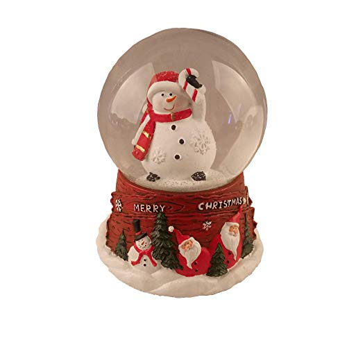 Lightahead Christmas Musical 100MM Polyresin Snowman Snow Globe Water Ball
