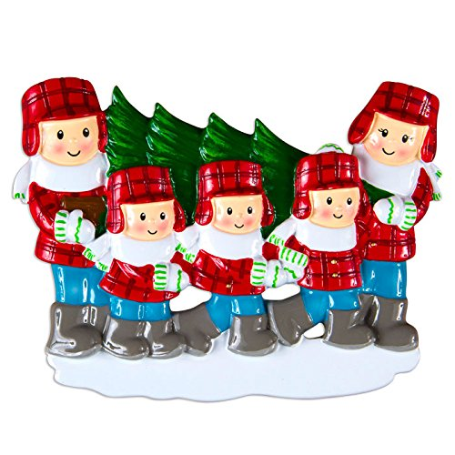 Christmas Tree Lot Family Of 5 Personalized Christmas Tree Ornament
