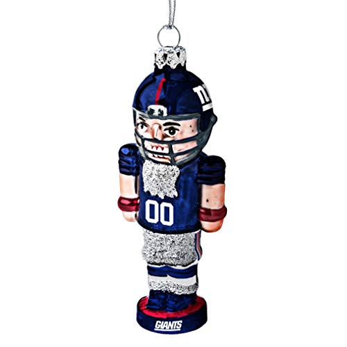 NFL New York Giants Football Nutcracker Ornament