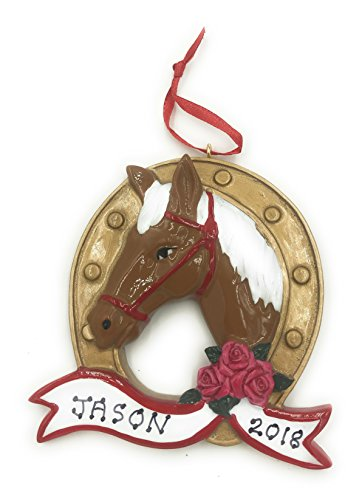 Personalized Horse Loving Christmas Ornament 2019