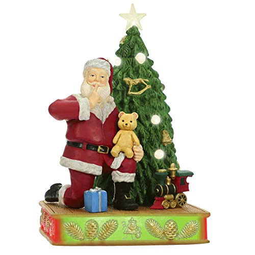 Hallmark Keepsake Ornament 2019 Year Dated Once Upon Santa Claus with Toys Musical with Light (Plays O Song), Oh Christmas Tree