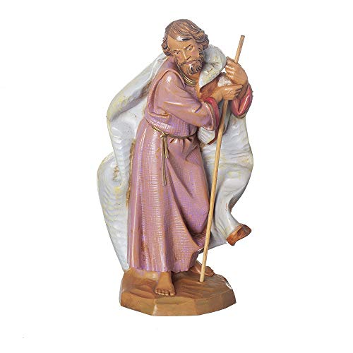 Fontanini, Nativity Figure, Joseph, 7.5″ Scale, Collection, Handmade in Italy, Designed and Manufactured in Tuscany, Polymer, Hand Painted, Italian, Detailed